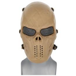AMA Tactical Villain Skull Mesh Airsoft Face Mask - TAN