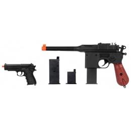 UK Arms P1308 C96 Dual Mag Pistol w/ Mini Pistol - BLACK