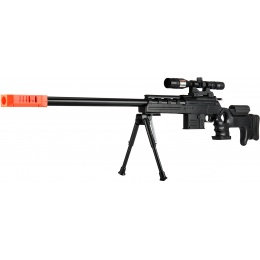 UK Arms P2777 Semi-Auto Spring Airsoft Sniper Rifle - BLACK