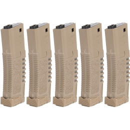 Elite Force ARES AMOEBA 140rd AEG Airsoft 5 Pack Mag Set - DARK EARTH