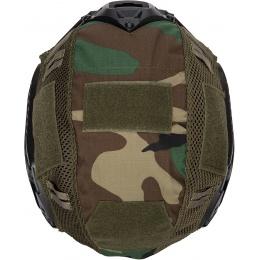 WoSport 1000D Nylon Polyester Bump Helmet Cover - WOODLAND