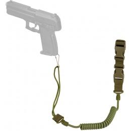 WoSport Nylon Elastic Upgraded Pistol Lanyard Sling - OLIVE DRAB