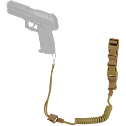 WoSport Nylon Elastic Upgraded Pistol Lanyard  Sling - TAN