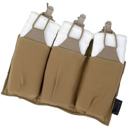 AMA Airsoft Ultra-Light Triple M4 Magazine Pouch - COYOTE BROWN