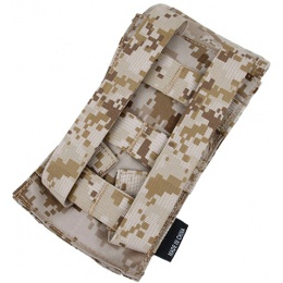 AMA HK417 Airsoft Single Tactical Magazine Pouch - WOODLAND DIGITAL
