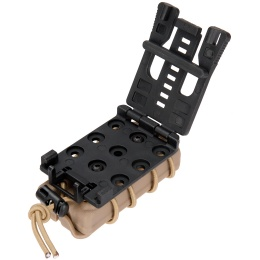 AMA Tactical Airsoft Polymer Belt Paracord Pistol Magazine - TAN