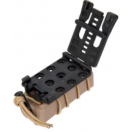 AMA High Speed Airsoft Pistol Magazine Belt Clip Pouch - TAN