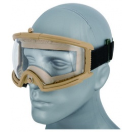 AMA Airsoft Full Seal Tactical Protective Goggles - TAN