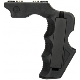 Lancer Tactical Airsoft Impact Keymod Foregrip w/ Storage - BLACK