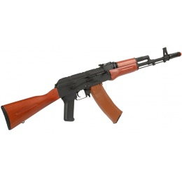 DBoys Airsoft AK-74 AEG Rifle w/ Wood Stock - Gun Only - BLACK/WOOD
