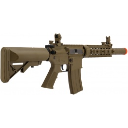 Lancer Tactical M4 Low FPS SD GEN 2 Polymer AEG Airsoft Rifle - TAN