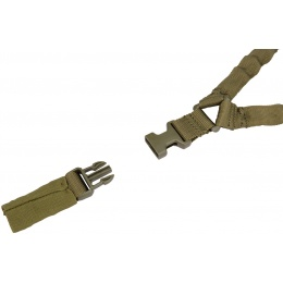 Lancer Tactical Airsoft Single Point Bungee Gun Sling - OLIVE DRAB