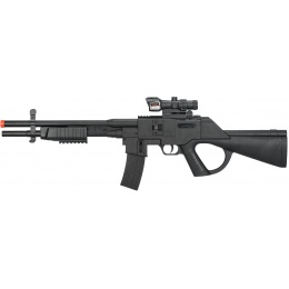 UK Arms Spring Pump-Action Airsoft Shotgun w/ Red Dot Sight - BLACK