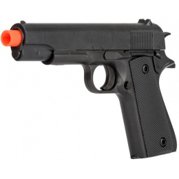 UK Arms Spring Standard Airsoft 1911 Pistol in Poly Bag - BLACK