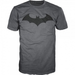 BioWorld Men's DC Comics Batman Bat Fly T-Shirt - CHARCOAL