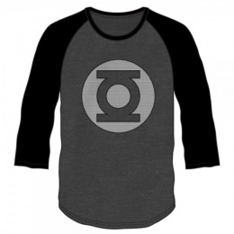 BioWorld Men's DC Comics Green Lantern Long Sleeve - CHARCOAL RAGLAN