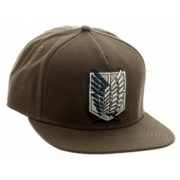 BioWorld Attack on Titan Scout Canvas Snapback - BROWN