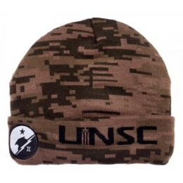 BioWorld Halo UNSC Camo Cuff Billed Beanie Cap Hat - DIGITAL CAMO