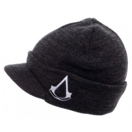 BioWorld Embroidered Assassins Creed Billed Beanie - BLACK