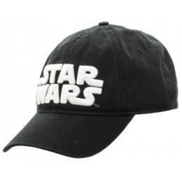 BioWorld Star Wars Logo Adjustable Strapback Cap - BLACK