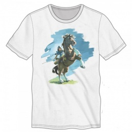 Zelda Breath of the Wild Men's Cotton Fabric Tee - WHITE