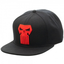 BioWorld Acrylic Wool Punisher Thunderbolt Logo Snapback - BLACK