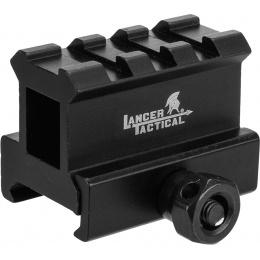 Lancer Tactical 2-Slot MED-Profile Airsoft Riser Mount - BLACK
