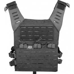 Valken Laser Cut MOLLE Nylon Plate Carrier Vest - BLACK