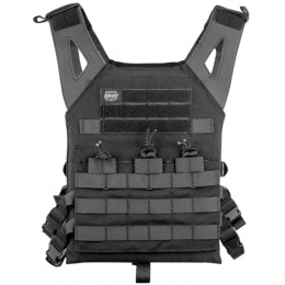 Valken 900D Fabric Tactical Plate Carrier II Vest - BLACK