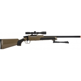 CYMA Airsoft MK51 Bolt Action Sniper Rifle w/ Scope - TAN