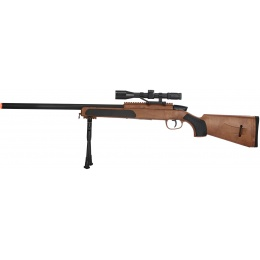 CYMA Airsoft MK51 Bolt Action Sniper Rifle w/ Scope - WOOD
