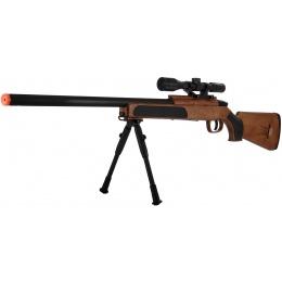 CYMA Airsoft MK51 Bolt Action Sniper Rifle w/ Scope - WOOD