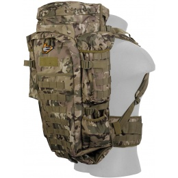 Lancer Tactical 600D 36-Inch Nylon Rifle Case Backpack - CAMO