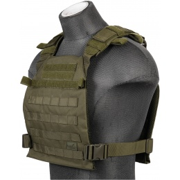 Lancer Tactical Nylon QR Lightweight Plate Carrier - OD GREEN
