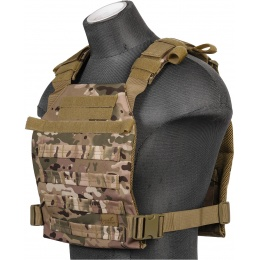 Lancer Tactical Nylon QR Lightweight Plate Carrier - CAMO
