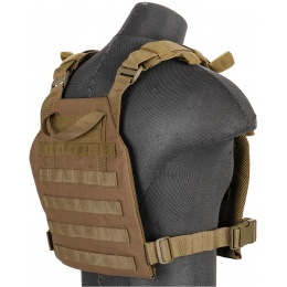 Lancer Tactical Nylon QR Lightweight Tactical Vest (Khaki)