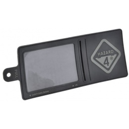 Hazard 4 Rubber 3-D Backed ID-Window-Patch w/ H4 Logo - BLACK