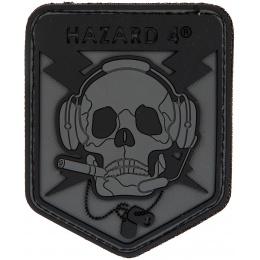 Hazard 4 TPR Rubber Operator Skull Morale Patch - BLACK