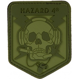 Hazard 4 TPR Rubber Operator Skull Morale Patch - OD GREEN