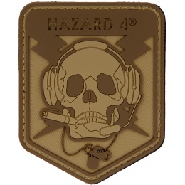 Hazard 4 TPR Rubber Operator Skull Morale Patch - COYOTE BROWN