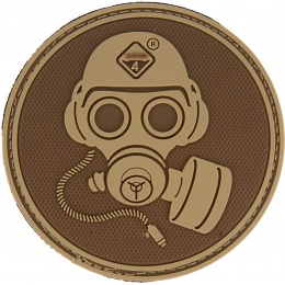 Hazard 4 TPR Special Forces Gas Mask Morale Patch  - COYOTE BROWN