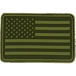 Hazard 4 TPR Rubber USA Flag Left Arm Morale Patch - OD GREEN