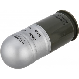 AMA M433HE-1 Airsoft 40mm Dummy Grenade Shells - 4 Pack - SILVER