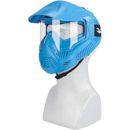 Valken MI-3 GOTCHA Single Goggles Face Mask w/ Top Strap - BLUE
