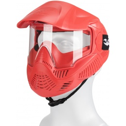 Valken MI-3 GOTCHA Single Goggles Face Mask w/ Top Strap - RED