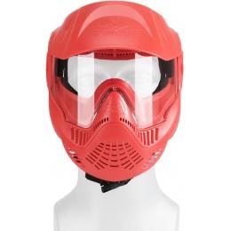 Valken MI-3 GOTCHA Single Goggles Face Mask w/ Top Strap - RED
