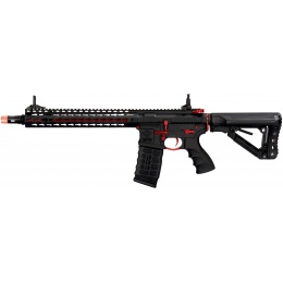 G&G Combat Machine CM16 SRXL M4 Airsoft AEG Rifle - BLACK/RED