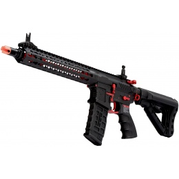 G&G Combat Machine CM16 SRXL M4 Airsoft AEG Rifle - BLACK/RED
