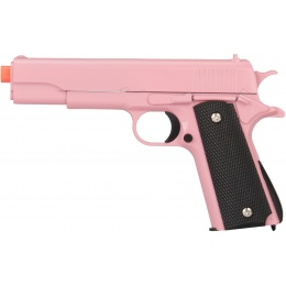 UK Arms Airsoft 1911 Metal Spring Powered Pistol - PINK