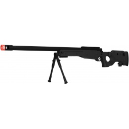 UK Arms Bolt Spring Airsoft Sniper Rifle w/ Folding Stock - BLACK